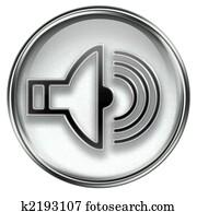 music icon grey, isolated on white background.