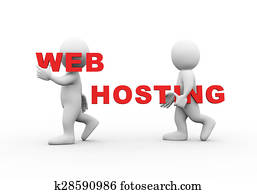 3d people word text web hosting