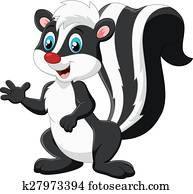 Cute skunk cartoon presenting