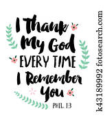 I Thank My God Every Time I Remember You