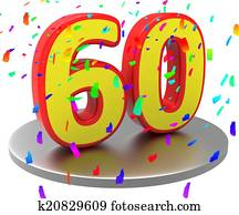 Sixtieth Birthday Means Happy Anniversary And 60Th