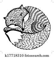 decorative silhouette of a fox