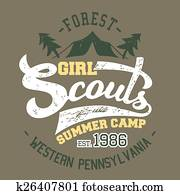 Girl Scouts summer camp t-shirt