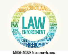 Law enforcement word cloud