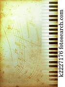 old piano paper