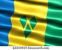 Flag of Saint Vincent and Grenadines government Stock