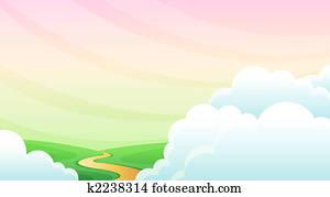 Road cloud sky