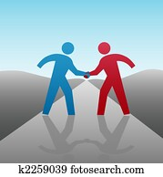 Business People Partner to Progress Together with Handshake