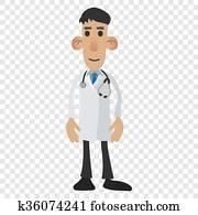 Doctor cartoon icon
