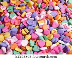 Field of Candy Hearts