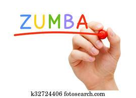 Zumba, rot, markierung