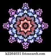 Mandala with hearts