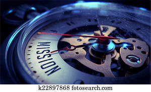 Mission on Pocket Watch Face.