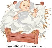 Baby Jesus Asleep