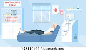 Blood Donation Illustration