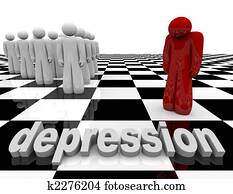 Depression - One Person Stands Alone