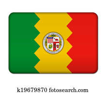 Los Angeles flag button