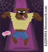 Werewolf halloween character