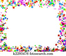 Confetti picture frame