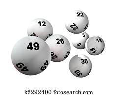 Seven Lottery Balls