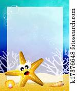 starfish with frame