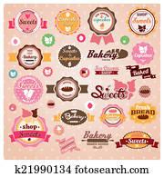 Vintage ice cream cupcake labels