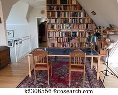 Banque de photo étude salle bureau maison k