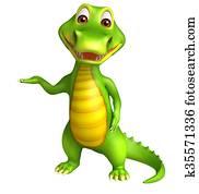 cute Aligator cartoon charcter