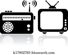 Tv radio icons