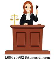 Judge Character With Gavel