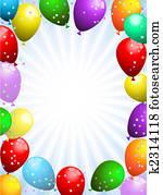 luftballone, und, konfetti