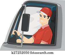 Man Delivery Truck Driver
