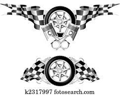 Sports Race Emblems - first set