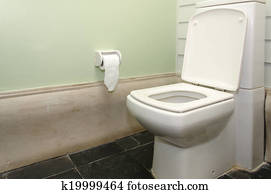 Stock Foto Wasserklosett Und Bilderrahmen In Badezimmer