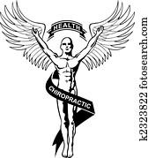 chiropraktik, symbol