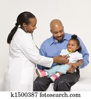 Father, child and physician.