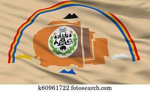 Navajo Indian Flag Closeup View