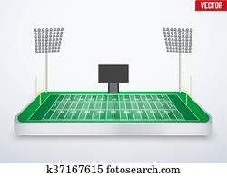 begriff, von, miniatur, tischplatte, amerikanischer fu?ball stadium