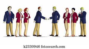 business meeting render