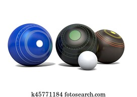 Lawn Bowls And Jack
