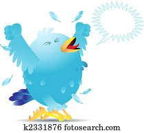 Screaming twitter bird