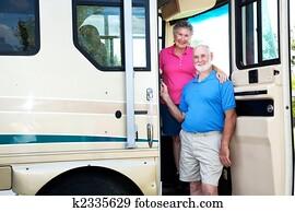 Senior Couple in their RV