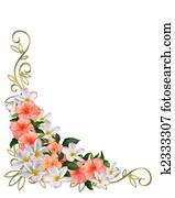 Tropical Flowers Corner Design