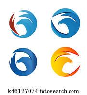 Elegant eagle logo concept