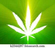 Marijuana leaf illustration