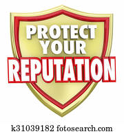 Protect Your Reputation Shield Words