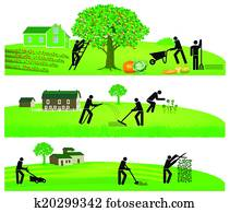 Gardening and harvesting