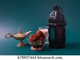 Ramadan Kareem fasting Food Concept