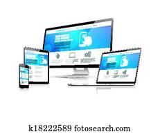 website, kodierung, entwicklung, mit, res