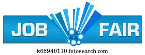 Job Fair Blue Graphic Center